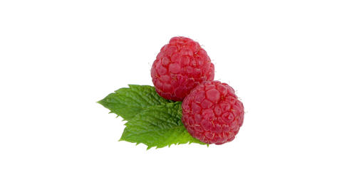 Ripe red raspberry Footage