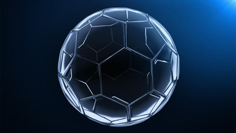 glass soccer ball (background cycle) Stock Video Footage
