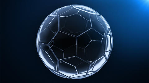 glass soccer ball (background cycle) Animation