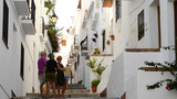 Tourists In An Andalusian Village stock footage