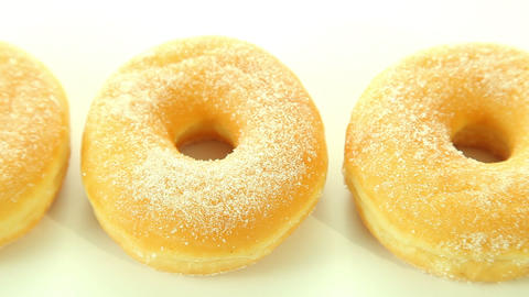 Donuts on white background Footage