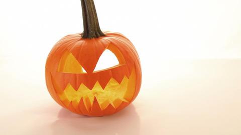 Halloween pumpkin, horror scary jack o lantern Stock Video Footage