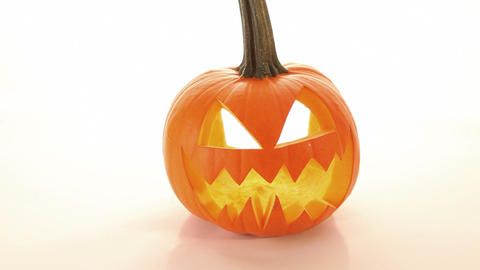 Halloween Pumpkin, Horror Scary Jack O Lantern stock footage