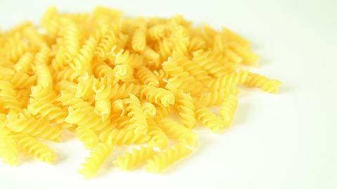 Pasta on a white background Stock Video Footage