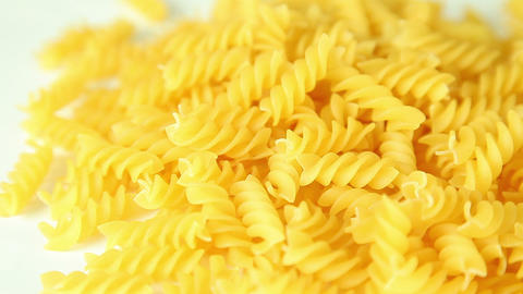 Pasta on a white background Footage