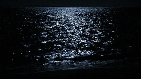 moonbeam in sea Stock Video Footage