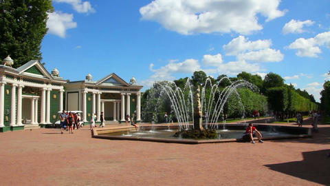 Eva fountain in petergof park St. Petersburg Russi Stock Video Footage