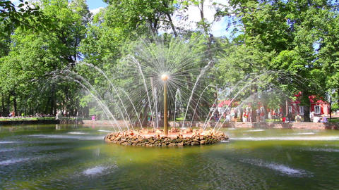 Sun fountain in petergof park St. Petersburg Russi Footage