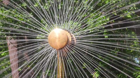 Sun fountain fragment in petergof park St. Petersb Footage