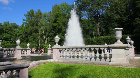 Eva fountain in petergof park St. Petersburg Russi Footage