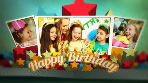 Birthday Pop Up Book After Effects Template