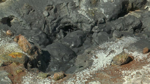 Detail Of Boiling Mud Pool (fumarole) At Hverir In stock footage