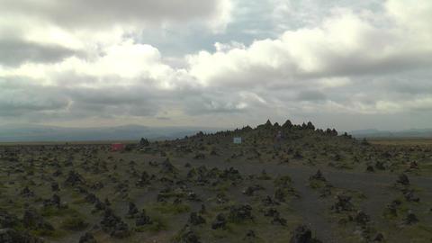Laufskálavarða (Laufskalavarda) lava ridge timel Stock Video Footage