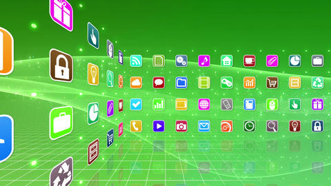 Smart Phone apps R Cs 2m 1 HD Stock Video Footage