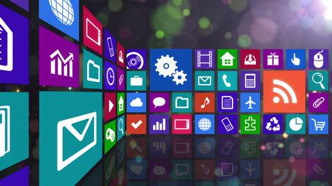 Smart Phone apps R Cs 4m 1 HD Stock Video Footage