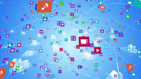 Smart Phone apps S Mm 3m 1 HD Stock Video Footage