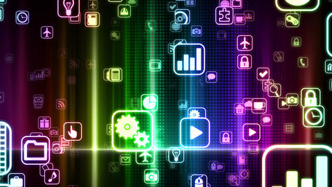 Smart Phone apps S Yb 1bm 1 HD Stock Video Footage