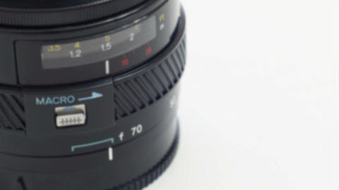 Macro Lens Rack Focus stock footage