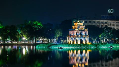 1080 - Turtle Tower on Hoan Kiem lake - Hanoi Footage