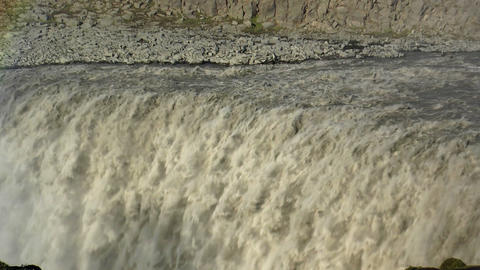 detifoss waterfall in iceland extreme closeup Stock Video Footage
