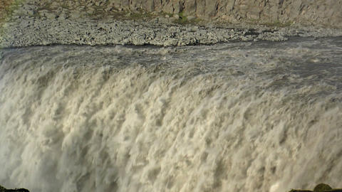 detifoss waterfall in iceland extreme closeup Footage