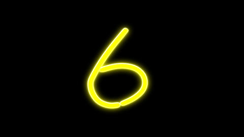 neon countdown number Stock Video Footage