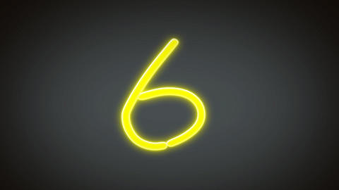 neon countdown number grey Stock Video Footage