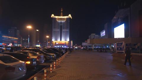 Harbin 18 Railway station square Stock Video Footage