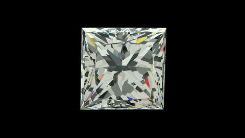 Princess Cut Diamond Animation