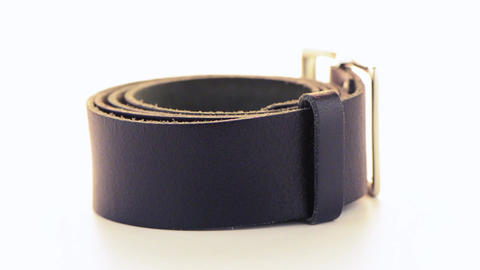 Leather belt Stock Video Footage