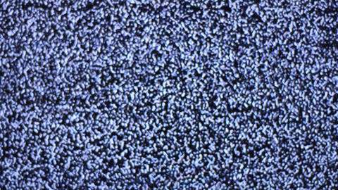 Television Channel With Noise (Snow), Rack Focus Stock Video Footage