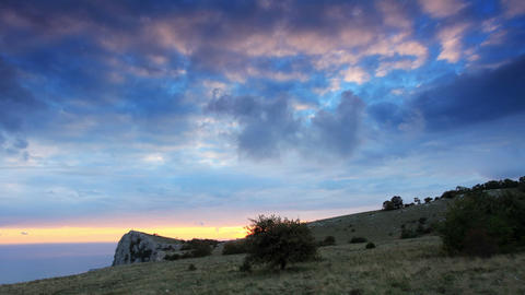 Timelapse sunset in the mountains Merdven-Kayasy Footage