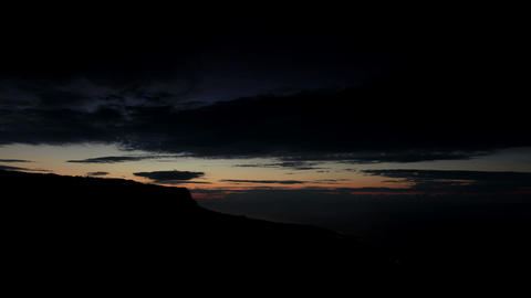 Timelapse sunrise in the mountains Merdven-Kayasy Stock Video Footage