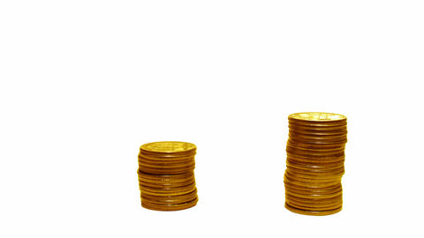coins loss growth Stock Video Footage