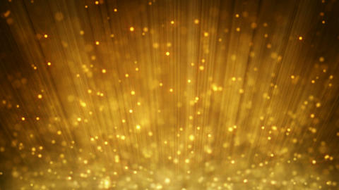 loopable motion background rising gold particles Animation