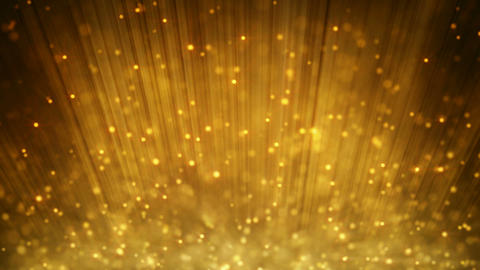 loopable motion background rising gold particles Stock Video Footage