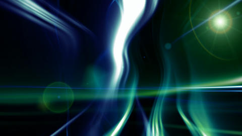 loopable flowing strokes of light with lens flares Animation