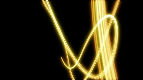 loopable background yellow light streak on black Stock Video Footage