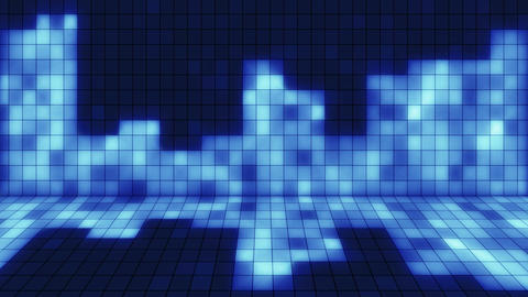 beaming blue squares musical loopable background Animation
