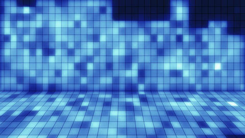 beaming blue squares musical loopable background Stock Video Footage