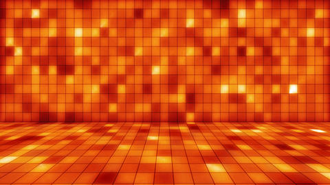 beaming orange squares musical loopable background Stock Video Footage