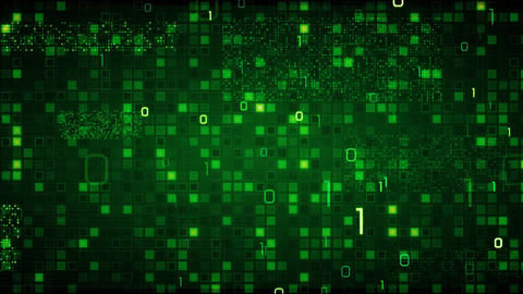 green loopable information technology background b Stock Video Footage