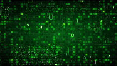 green loopable information technology background b Animation
