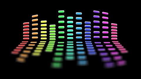 seamless loop rainbow equalizer with luma matte Animation