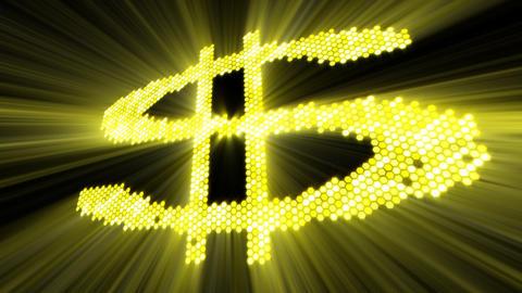 shining dollar sign Stock Video Footage