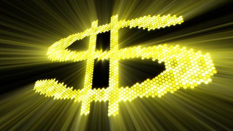 shining dollar sign Animation