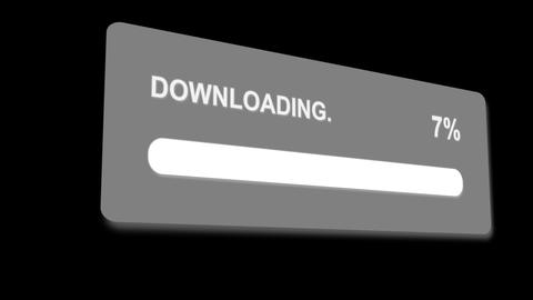 downloading progress bar with luma matte Stock Video Footage