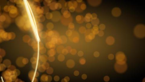 light streak and blurred circle lights Stock Video Footage
