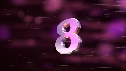 countdown explosion 3d Stock Video Footage