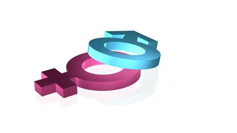 looping rotate gender signs Stock Video Footage